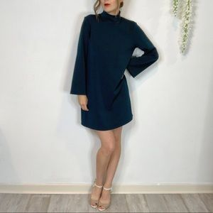 CLUB MONACO fit & flare dress mock neck
